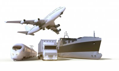 transportation and Logistics truck,train, boat and plane